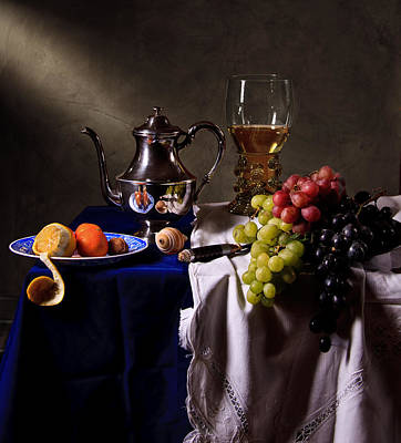 Poster featuring the photograph Still Life With Roemer And Silver Tea Pot by Levin Rodriguez