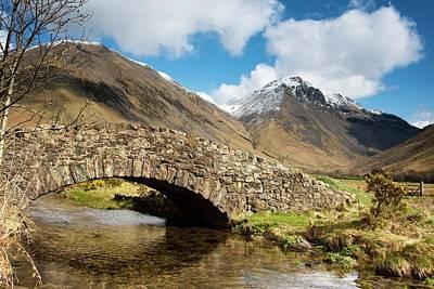Stone Bridge In Mountain Landscape Poster
