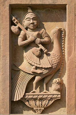 Stone Carving In Hotel Prithvi Vilas Poster