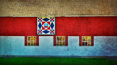 Storm At Sea  Barn Quilt Paint  Poster by Carol Toepke