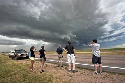 Storm Chasing, Nebraska, Usa Poster by Science Photo Library