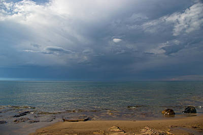 Storm Over Lake Superior Poster
