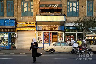 Street Scene In Teheran Iran Poster