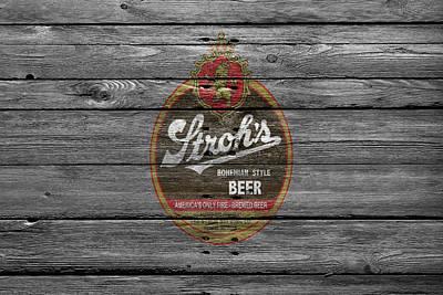 Strohs Beer Poster by Joe Hamilton