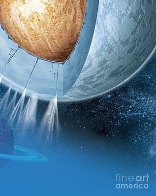 Structure Of Enceladus, Artwork Poster by Claus Lunau