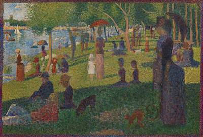 Study For A Sunday On La Grande Jatte Poster by Georges Seurat