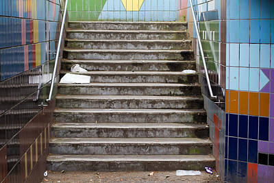 Subway Stairs Poster by Fizzy Image