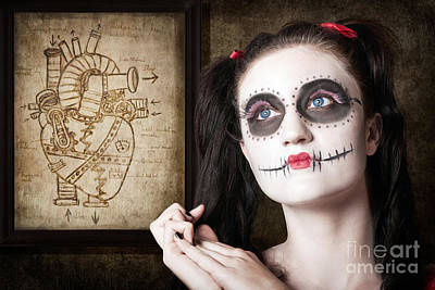Sugar Skull Mechanical Romance Poster by Jorgo Photography - Wall Art Gallery