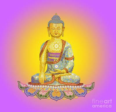 Sun Buddha Poster