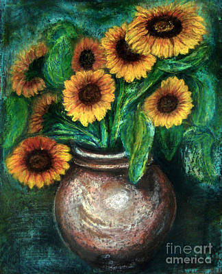 Sunflowers Poster by Jasna Dragun