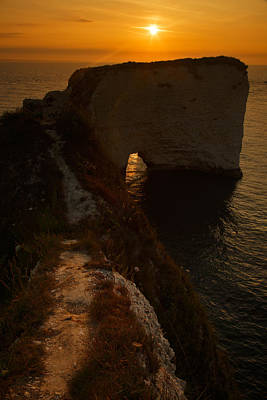 Sunrise At Old Harry Rocks Poster