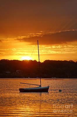 Sunrise Sailboat Poster