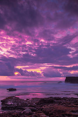 Poster featuring the photograph Sunset At Tanah Lot - Bali by Matthew Onheiber
