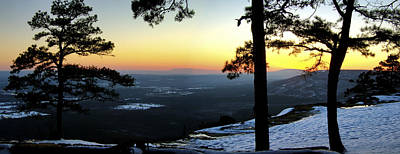 Poster featuring the photograph Sunset Atop Snowy Mt. Nebo by Jason Politte