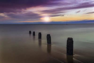 Sunset Beach Poster by Ian Mitchell
