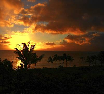 Sunset On Maui Poster