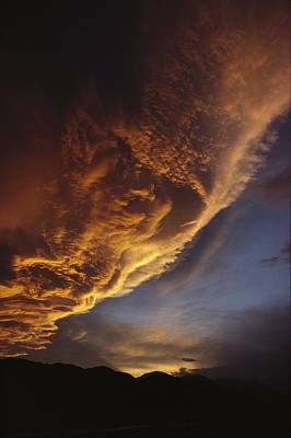 Sunset On Storm Clouds Near Mt Cook Poster