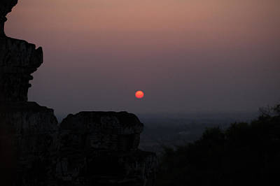 Sunset Over Angkor Wat Poster by Samantha Leonetti