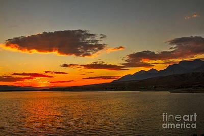 Sunset Over Mackay Reservoir Poster by Robert Bales