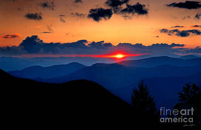Sunset View From The Blue Ridge Parkway 2008 Poster