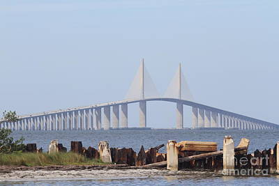 Sunshine Skyway Bridge Poster by Christiane Schulze Art And Photography