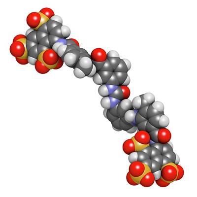 Suramin Sleeping Sickness Drug Molecule Poster by Molekuul