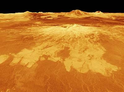 Surface Of Venus Poster by Nasa/jpl