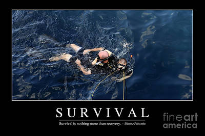 Survival Inspirational Quote Poster by Stocktrek Images