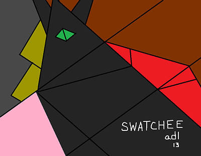 Swatchee Poster by Anita Dale Livaditis