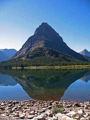 Poster featuring the photograph Swiftcurrent  Lake Many Glacier by Joseph J Stevens