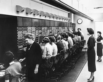 Switchboard Operators Poster by Underwood Archives