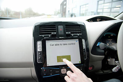 Tablet Interface Of The Robotcar Poster by John Cairns/oxford University Images