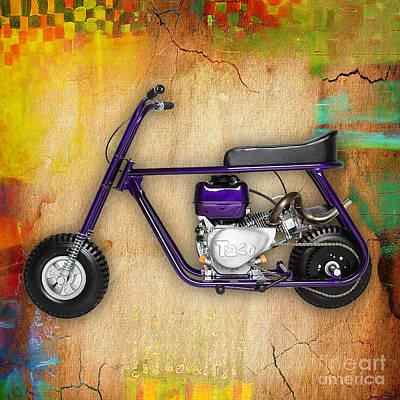 Taco 22 Mini Bike Poster by Marvin Blaine