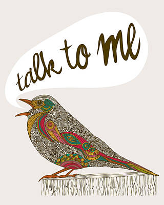 Talk To Me Poster by Valentina Ramos