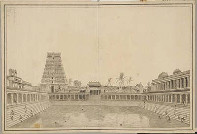 Tank In The Shiva Temple Poster by British Library