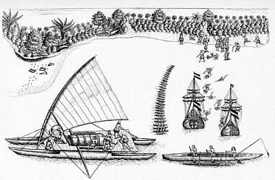 Tasmans Visit To Fiji, 1643 Poster