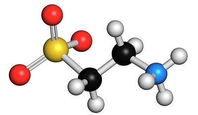 Taurine Molecule Poster by Molekuul
