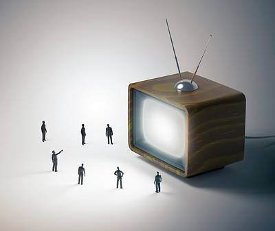 Television And Figures Poster