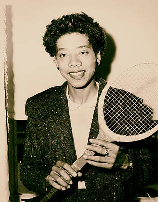 Tennis Great Althea Gibson 1956 Poster by Mountain Dreams