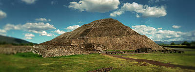 Teotihuacan Pyramids Archaeological Poster