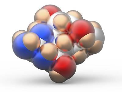 Tetrodotoxin Ttx Neurotoxin Molecule Poster