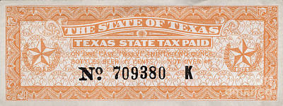 Texas Beer Tax Stamp Poster