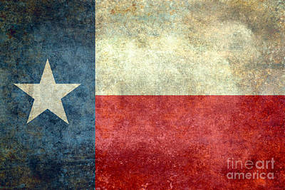 Texas The Lone Star State Poster by Bruce Stanfield