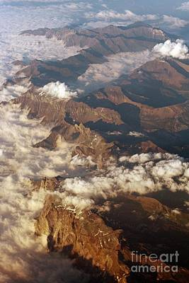 The Alps, Aerial Photograph Poster