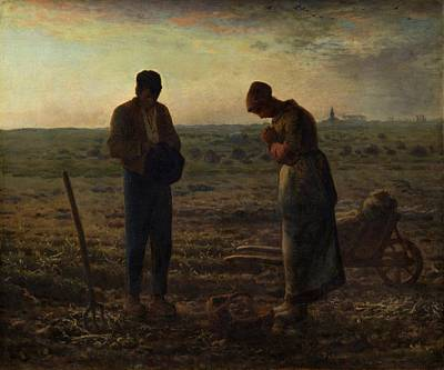 The Angelus Poster by Jean Francois Millet
