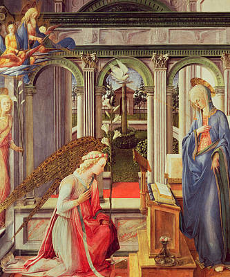 The Annunciation Poster by Fra Filippo Lippi