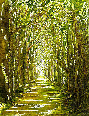 The Avenue In Spring Poster by Emma Childs