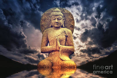 The Buddha Poster by Angela Doelling AD DESIGN Photo and PhotoArt