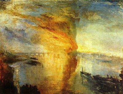 The Burning Of The Houses Of Parliament Poster by JMW Turner