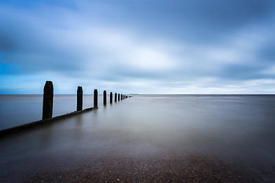 Poster featuring the photograph The Calm Sea. by Gary Gillette